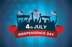 Het embleem viert 4 Juli-onafhankelijkheidsdag royalty-vrije illustratie