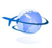 Het embleemconcept van de reis en van de levering Stock Afbeelding