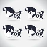 Het embleeminzameling van de embleemhond Dier font Freeform Symbool Samenvatting Vector illustratie Op witte achtergrond stock illustratie