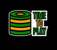 Het embleemmalplaatje van de casinopook Het gokken de weddenschap breekt stapel voor tijd af te spelen royalty-vrije illustratie