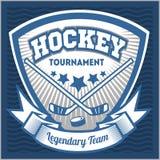 Het embleemmalplaatje van het hockeyteam Embleem, logotype Stock Afbeelding
