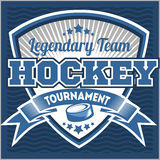 Het embleemmalplaatje van het hockeyteam Embleem, logotype Royalty-vrije Stock Foto's