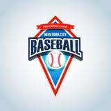 Het embleemmalplaatje van het honkbalteam Honkbalembleem, logotype malplaatje, het ontwerp van de t-shirtkleding De bal van het h Royalty-vrije Stock Foto