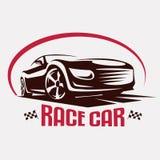 Het embleemmalplaatje van het raceautosymbool Stock Foto