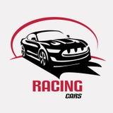 Het embleemmalplaatje van het raceautosymbool Royalty-vrije Stock Foto's