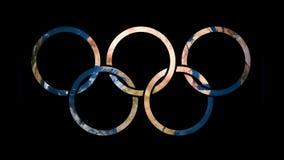 Het embleemolympics van het pictogramteken spelen die het draaien Aardebol openbaren stock illustratie