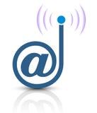Het embleemontwerp van de audio-messagerie Stock Foto's