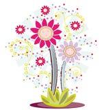 Het embleemontwerp van de bloem Stock Fotografie