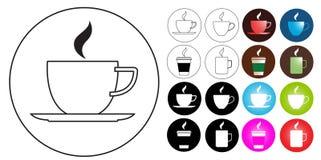 Het embleemontwerp van de Koffie van Internet Royalty-vrije Stock Foto