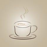 Het embleemontwerp van de koffiekop Stock Afbeeldingen