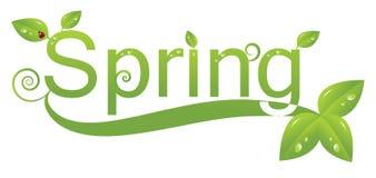 Het embleemontwerp van de lente stock illustratie