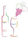 Het embleemontwerp van de wijn Stock Foto's