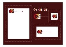 Het embleemreeks van de koffie Stock Afbeeldingen
