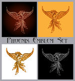 Het Embleemreeks van Phoenix stock illustratie