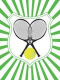 Het embleemvector van het tennis Stock Afbeelding