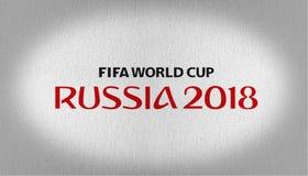 Het embleemvlag van FIFA Rusland 2018 royalty-vrije stock fotografie