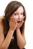 Het emotionele meisje Stock Afbeeldingen