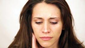 Het emotionele Vrouw Schreeuwen stock video