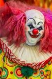 Het enge gezicht van de clownpop Stock Foto's