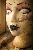 Het enge hoofd van de gothledenpop Royalty-vrije Stock Foto's