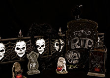 Het enge Kerkhof van Halloween Royalty-vrije Stock Afbeeldingen