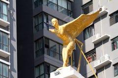 Het engelenbeeldhouwwerk Stock Foto's