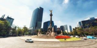 Het Engelenmonument aan Onafhankelijkheid in Mexico DF Kapitaal, landma stock fotografie