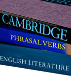 Het Engels en woordgroep die als werkwoord fungeert Stock Fotografie