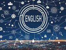 Het Engels met La van de binnenstad Stock Afbeelding