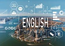 Het Engels met luchtmening van NY horizon Stock Fotografie