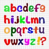Het Engelse alfabet op een witte achtergrond met een net Royalty-vrije Stock Foto