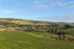 Het Engelse dorp van Abbotsburydorset Engeland het UK in het land Royalty-vrije Stock Afbeeldingen