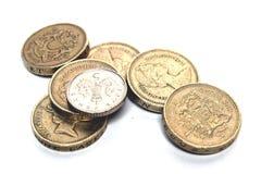 Het Engelse munten Stock Afbeeldingen