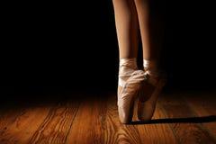 Het Engelse Punt van ballerinabenen Stock Afbeeldingen