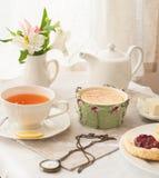 Het Engelse thee drinken Stock Fotografie