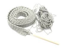 Het enig-gekleurde crochet-werk royalty-vrije stock fotografie