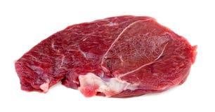Het enige die lapje vlees van het rood vleeslam tegen wit wordt geïsoleerd stock afbeeldingen