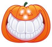 Het enige Halloween pompoen glimlachen Royalty-vrije Stock Foto