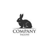 Het enige vectorembleem van het konijnpictogram Stock Afbeelding