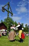 Het ensemble van de folklore van Zweden Stock Afbeeldingen