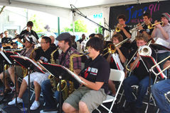 Het Ensemble van de Jazz van de Middelbare school van Berkeley royalty-vrije stock afbeeldingen