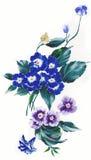 Het enthousiasme is gewaagd en ongebreideld van bloemen, het de bladeren en ontwerp van de bloemenkunst Stock Foto