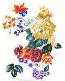 Het enthousiasme is gewaagd en ongebreideld van bloemen, het de bladeren en ontwerp van de bloemenkunst Royalty-vrije Stock Afbeelding
