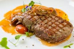 Het entrecôte van het rundvleeslapje vlees royalty-vrije stock foto