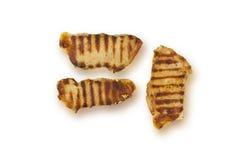 Het entrecôte van de het vleesfilet van het braadstukrundvlees over witte achtergrond wordt geïsoleerd die Stock Foto