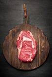 Het entrecôte van het Ribeyelapje vlees Stock Foto's