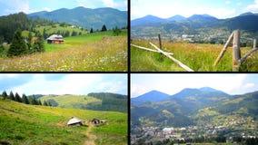 Het epische Karpatische landschap van het berglandschap stock footage