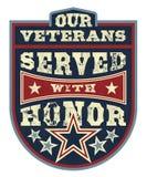 Het eren van Veteranen Stock Foto's