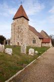 Het ernstige kerkhof middeleeuws Engeland van de kerk Royalty-vrije Stock Afbeelding