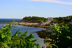 Het eroderen van kustlijn Plymouth Royalty-vrije Stock Foto's